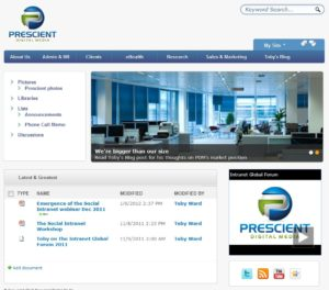 Social Intranet @ Prescient Digital Media using SharePoint 2010