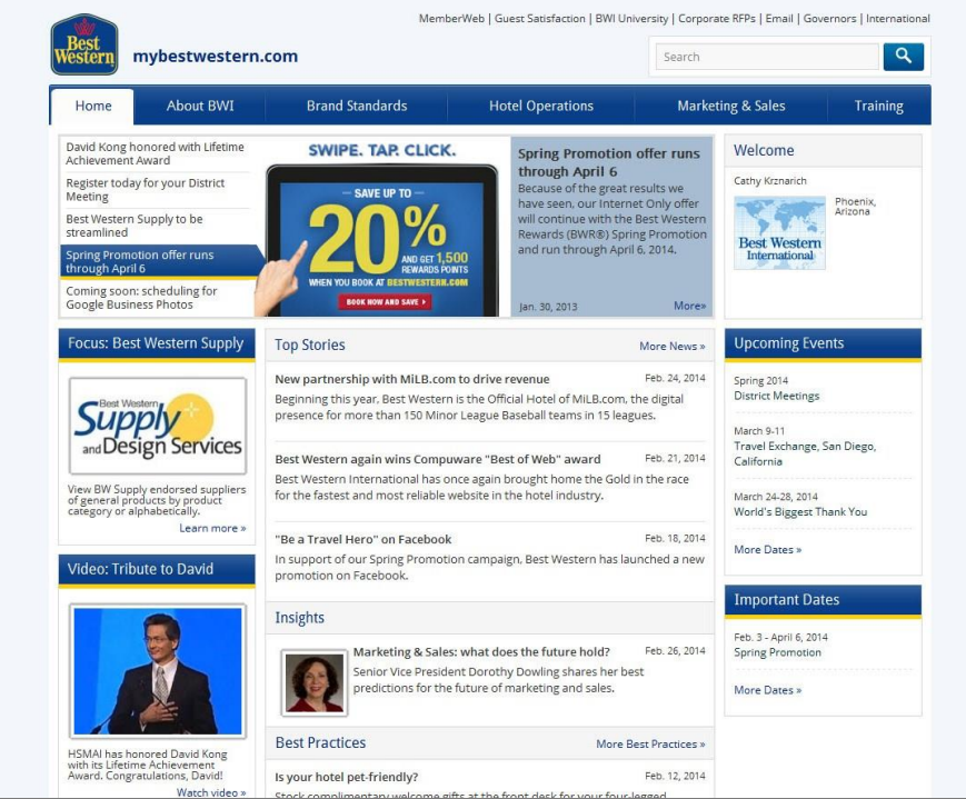 best western intranet design mar 2014