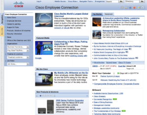Cisco intranet home page