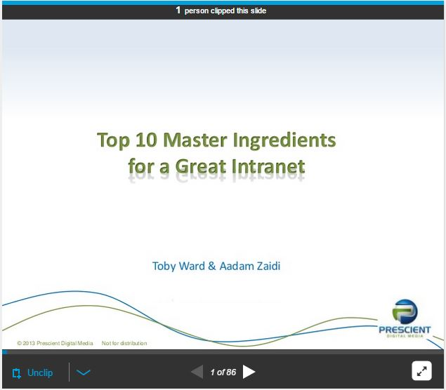 The Master Ingredients for a Great Intranet