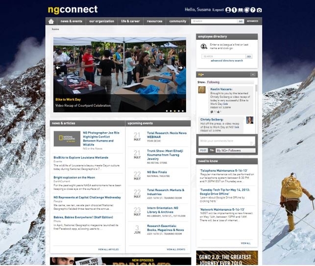 national geographic intranet