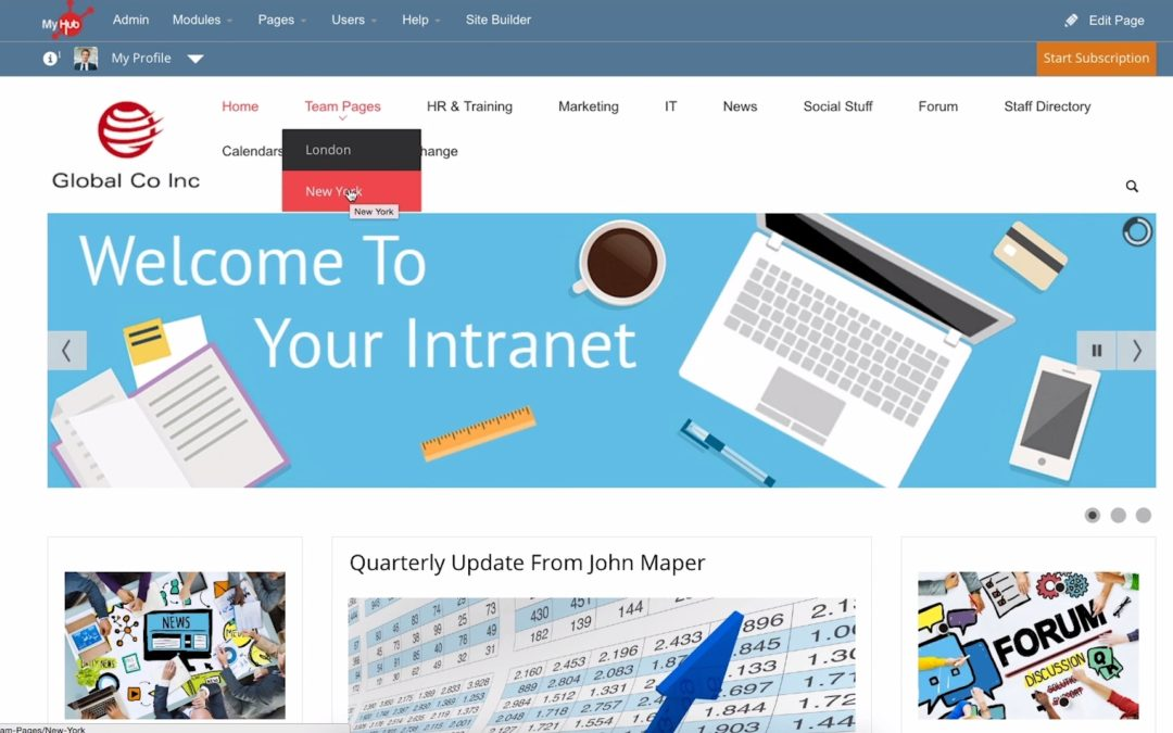 Engaging staff, increasing intranet use