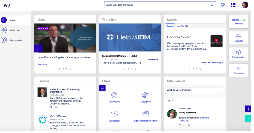 IBM Intranet Home Page