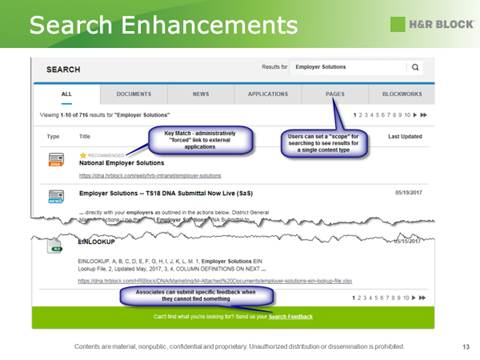 Improving Intranet Search
