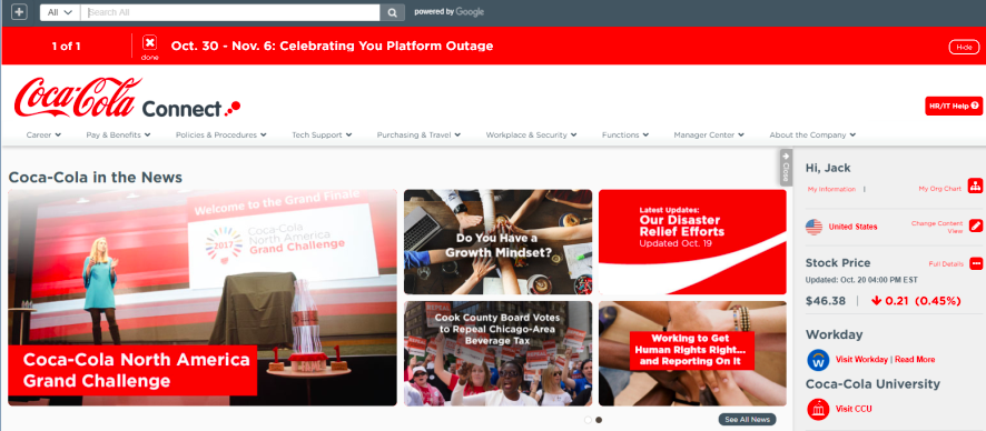 2018 Digital Workplace & Intranet Global Forum @ Coca-Cola