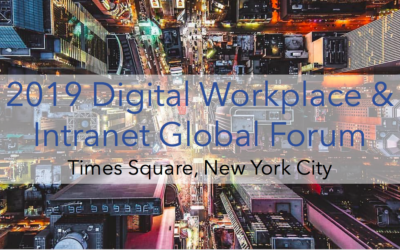Early-Bird Rate: 2019 Digital Workplace & Intranet Global Forum